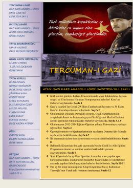 okulumuzdan haberler - Milli Eğitim Bakanlığı