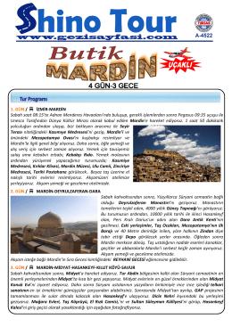 Tur detayları ile ilgili pdf dosyasına ulaşmak için tıklayınız.