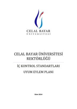 İç Kontrol Eylem Planı - celal bayar üniversitesi strateji geliştirme