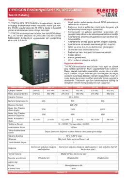 THYRICON Endüstriyel Seri 1P3, 3P3.20/40/80