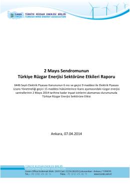 2 Mayıs Sendromunun Türkiye Rüzgar Enerjisi Sektörüne