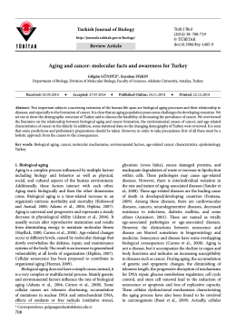 Aging and cancer: molecular facts and awareness for Turkey