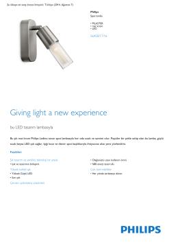 Product Leaflet: PILASTER mat krom LED Spot lamba