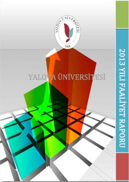 2013 - Yalova Üniversitesi