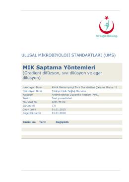 MIK saptama yöntemleri - Türkiye Halk Sağlığı Kurumu