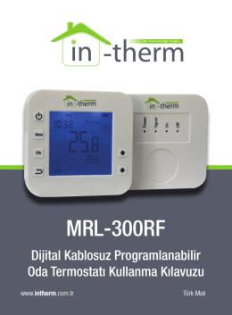 MRL-300RF - Oda Termostatı