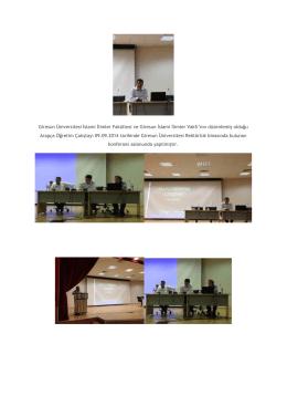"""""""Arapça Öğretimi"""" Çalıştayı - Giresun Üniversitesi İslami İlimler"""