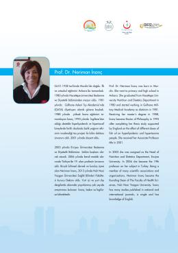 Prof. Dr. Neriman İnanç - İstanbul Sağlık ve Beslenme Bienali