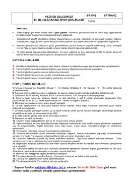 Satranç - Nilüfer Belediyesi