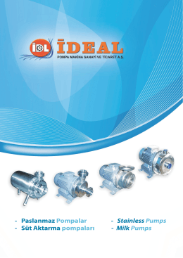 staınless steel pumps catalog