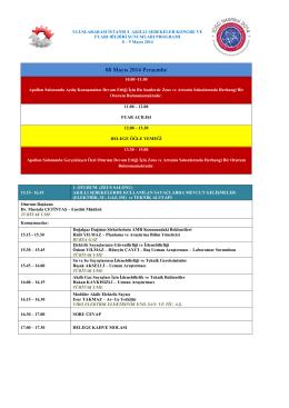 08 Mayıs 2014 Perşembe