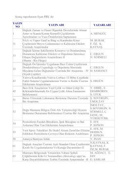 sonuç raporları (bilimsel araştırma ve incelemeler)