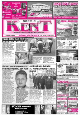 11-11-2014 Tarihli Kent Gazetesi