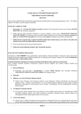 Sayfa 1 - E-Universite - Namık Kemal Üniversitesi