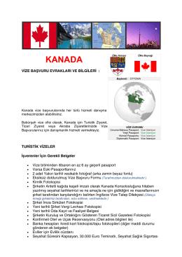 Canada Vizesi - Babürşah Vize Ofisi