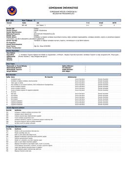 BIP106 Veri Tabanı - Gümüşhane Meslek Yüksekokulu