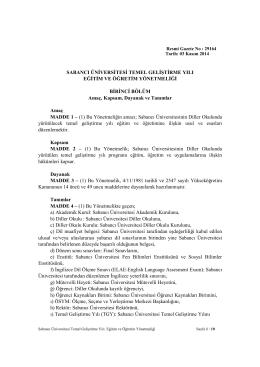 TGY_ tr_V14 - Sabancı Üniversitesi