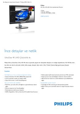 P-line 4K Ultra HD LED Arka Aydınlatmalı Monitör