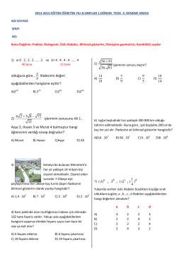 2) 4 2 3 8 72 32 + - MatematikBilgini.com