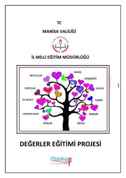 DEĞERLER EĞİTİMİ PROJESİ - Celal Bayar Üniversitesi