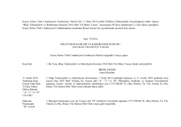 Bilgi Teknolojileri ve Haberleşme Kurumu 2014 Mali Yılı Bütçe Yasası