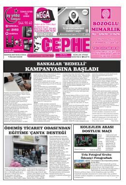 06.12.2014 Tarihli Cephe Gazetesi