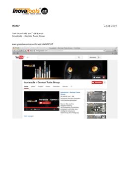 Haber 22.05.2014 Yeni Inovatools YouTube Kanalı: Inovatools