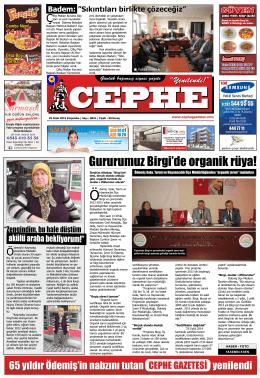 29.01.2015 Tarihli Cephe Gazetesi