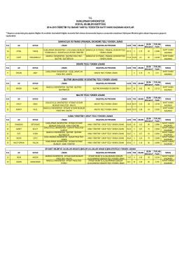 sosyal bilimler enstitüsü tc dumlupınar üniversitesi 2014-2015