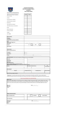 başvuru formu - Acıbadem Üniversitesi