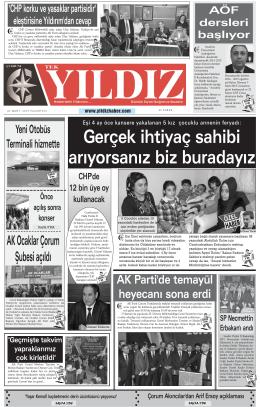 YILDIZ - Yıldız Haber