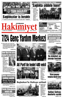 14 mart.qxd - Çorum Hakimiyet Gazetesi