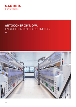 AUTOCONER X5 T/ D/ V. ENGINEERED TO FIT YOUR