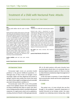 Treatment of a Child with Nocturnal Panic Attacks