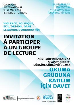 INVITATION À PARTICIPER À UN GROUPE DE LECTURE OkuMA
