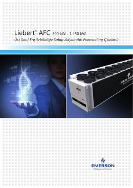 Liebert® AFC - Emerson Network Power