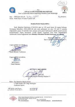 K y -y - Antalya Belediyesi
