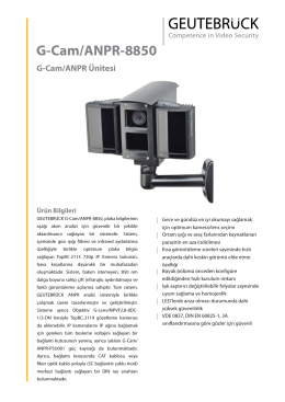G-Cam/ANPR-8850 - GEUTEBRÜCK GmbH