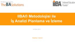 IIBA® Metodolojisi ile İş Analizi Planlama ve İzleme