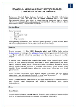 Memur Alım Sınavı - Türkiye İş Bankası