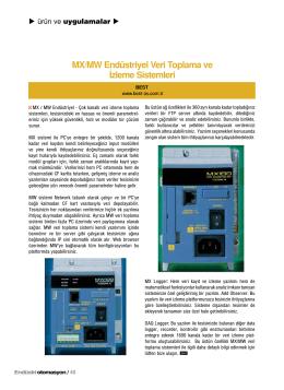 MX/MW Endüstriyel Veri Toplama ve İzleme Sistemleri