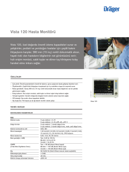 Product information: Vista 120 Hasta Monitörü (PDF)