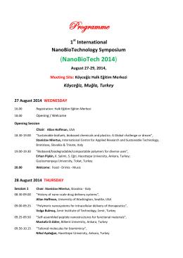 Programme - Biyomedtek