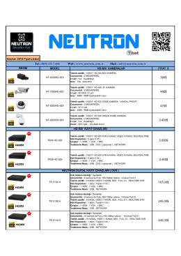 0850 333 7 666 Web : www.neutron.com.tr Mail