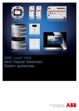ABB i-bus® KNX Akıllı Tesisat Sistemleri Sistem açıklaması