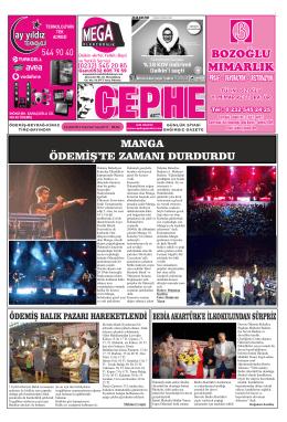 08.09.2014 Tarihli Cephe Gazetesi