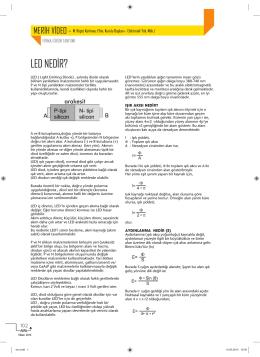 LED NEDİR? - Elektrik Dergisi