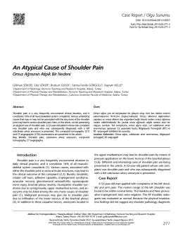 An Atypical Cause of Shoulder Pain