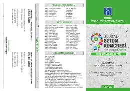 Kongre Broşürü - 9. ulusal beton kongresi
