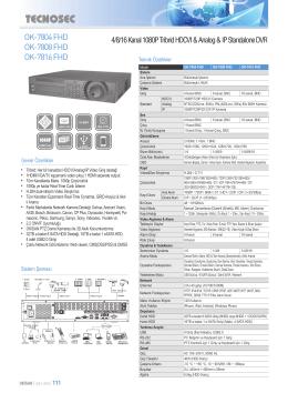 OK-7804 FHD OK-7808 FHD OK-7816 FHD